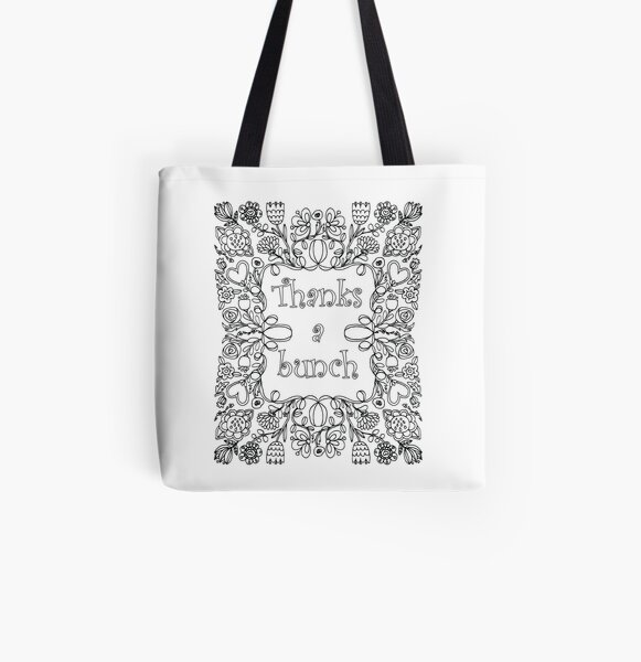 Thanks a Bunch - Colorable  All Over Print Tote Bag
