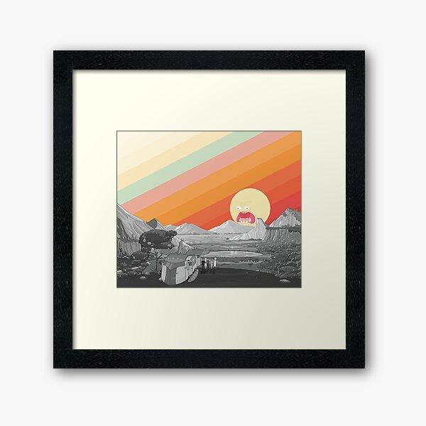 Screaming Sun (Rick & Morty) Framed Art Print
