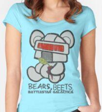 Bears Beets Battlestar Galactica Women's Fitted Scoop T-Shirt
