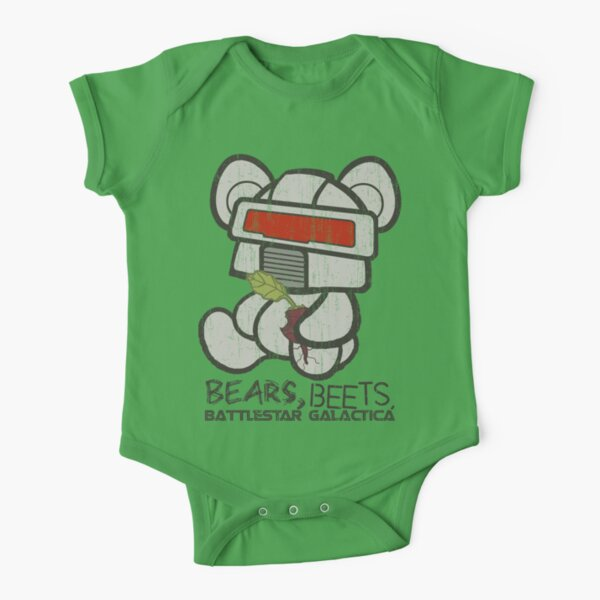 Bears Beets Battlestar Galactica Short Sleeve Baby One-Piece