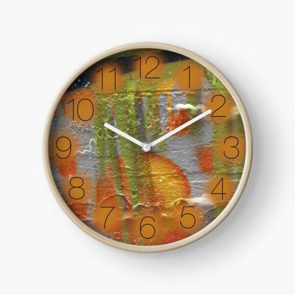 street art: alien drip Clock