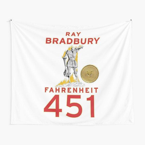fahrenheit 451 by ray bradbury - book cover Tapestry