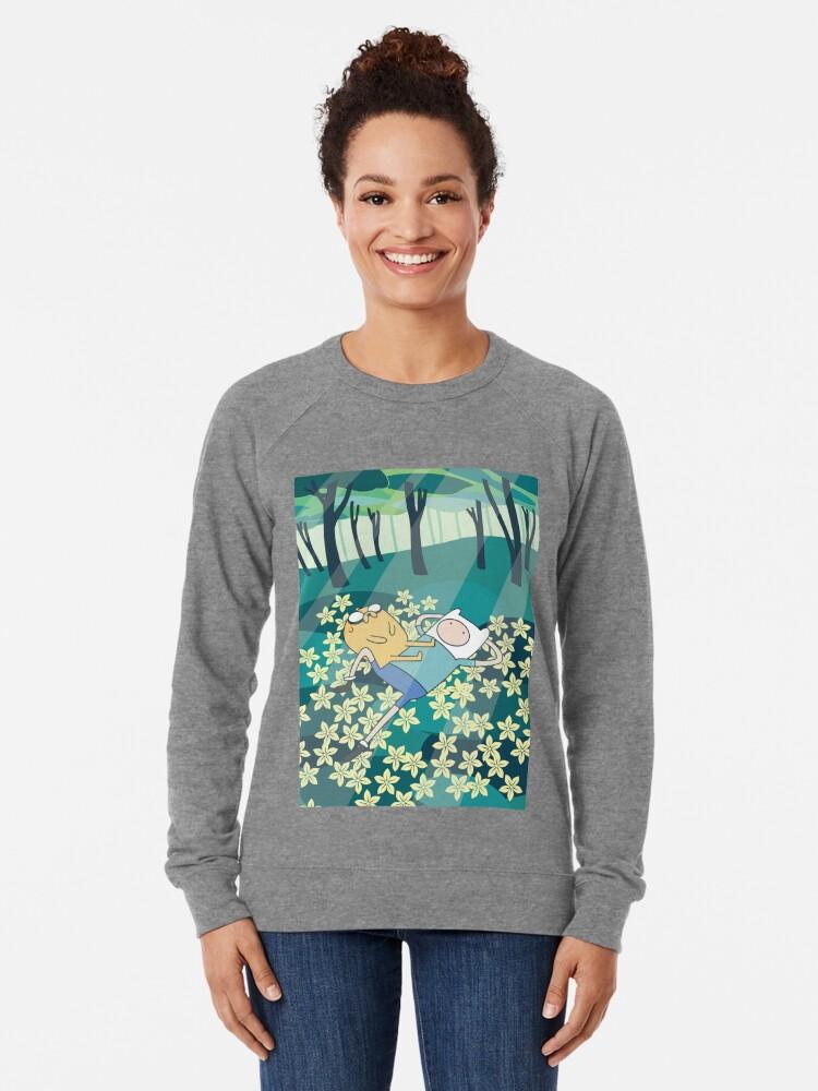 Alternate view of Field of Flowers (Adventure Time) Lightweight Sweatshirt
