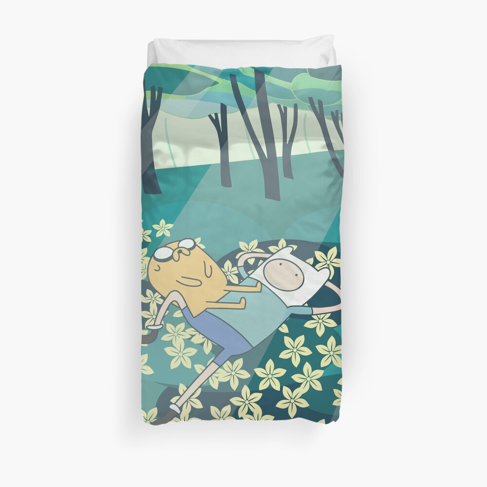 Field of Flowers (Adventure Time) Duvet Cover