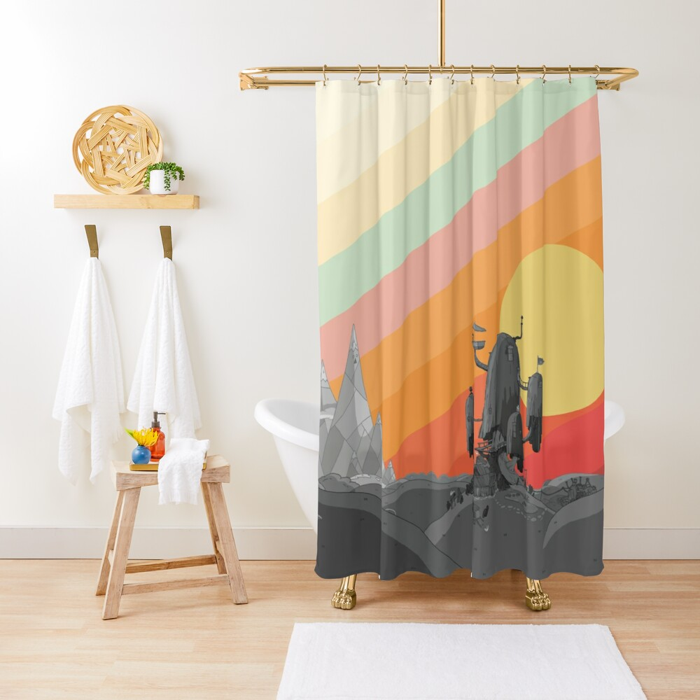 Land Of Ooo (Adventure Time) Shower Curtain