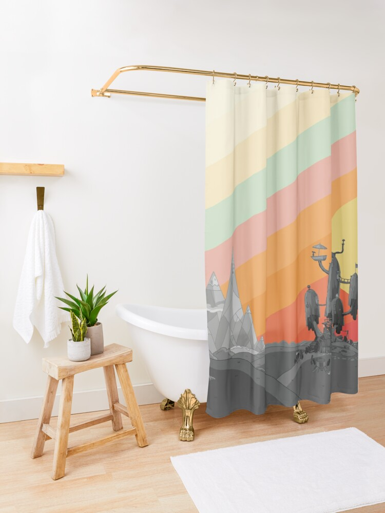 Alternate view of Land Of Ooo (Adventure Time) Shower Curtain