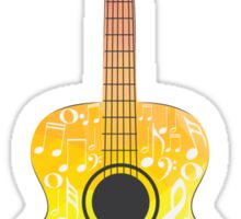 Polygonal Guitar Sticker