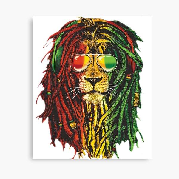 Bob Marley Rasta Lion Art for Reggae Lover Canvas Print