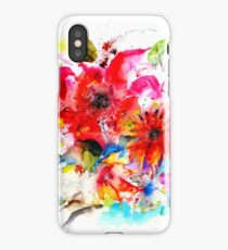 """ Watercolor garden II "" iPhone Case/Skin"