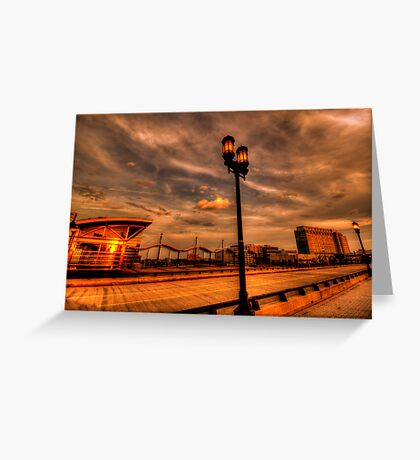 Reflection of the sun Greeting Card