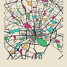 «Mapa de calles de Baltimore, Maryland» de A Deniz Akerman