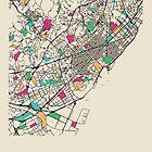 «Mapa de calles de Barcelona, España» de A Deniz Akerman