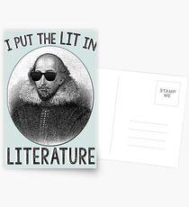 Ich setze das LIT in die Literatur. Postkarten