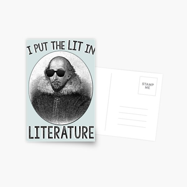 Puse el LIT en literatura. Postal
