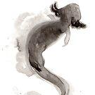 « Sumi-e Axolotl » par Threeleaves