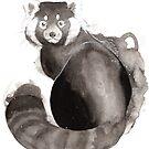 « Sumi-e Panda Rouge » par Threeleaves