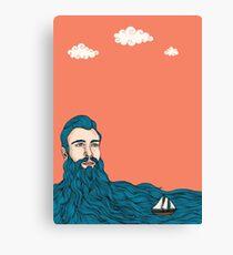 Él y el mar Canvas Print