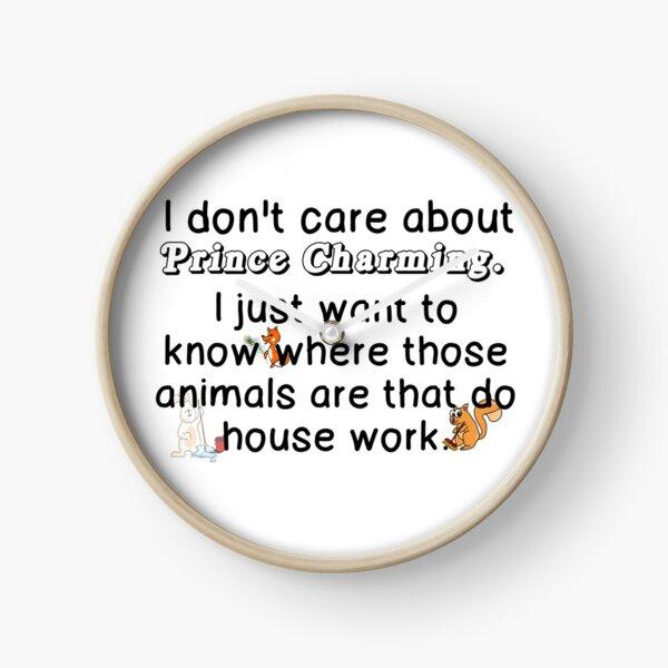 ANIMALS THAT DO HOUSE WORK Clock