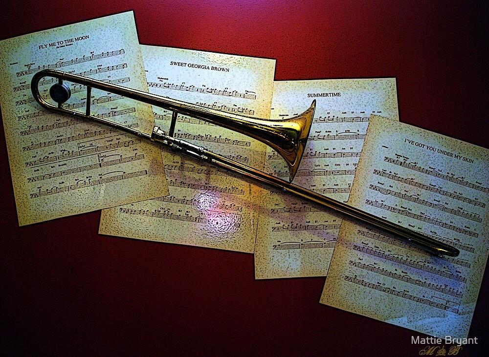 Trombone In Red by Mattie Bryant