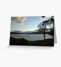 Evening Sky Over Lake of Menteith Greeting Card