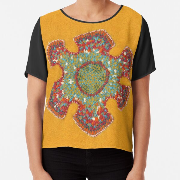 Growing - Casuarina - embroidery of plant cells Chiffon Top