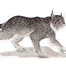 « Sumi-e Lynx » par Threeleaves