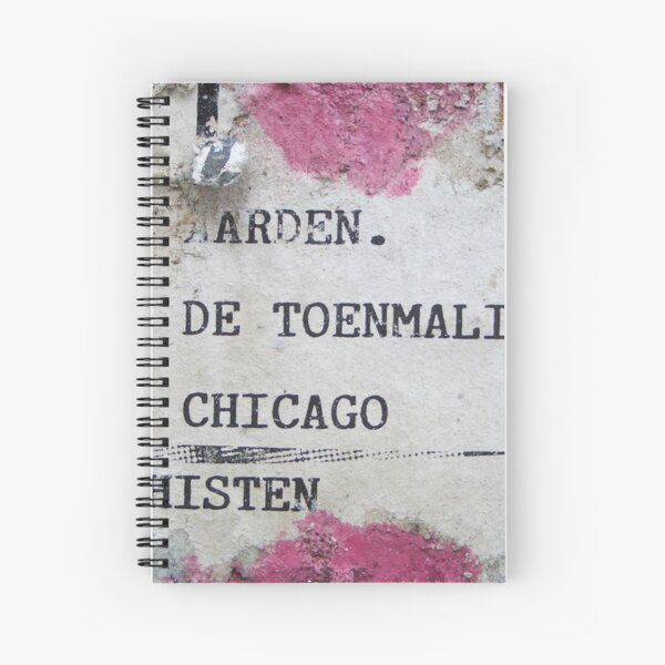 Urban poetry Spiral Notebook