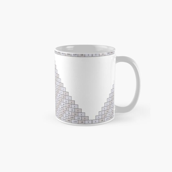 Pascal's Triangle #PascalsTriangle Number Pattern #NumberPattern Classic Mug