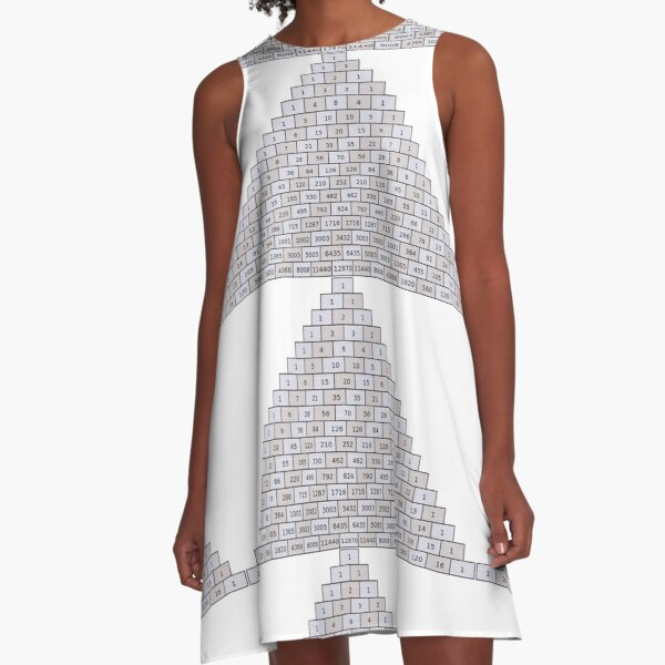 Mathematics, Pascal's Triangle #PascalsTriangle Number Pattern #NumberPattern A-Line Dress