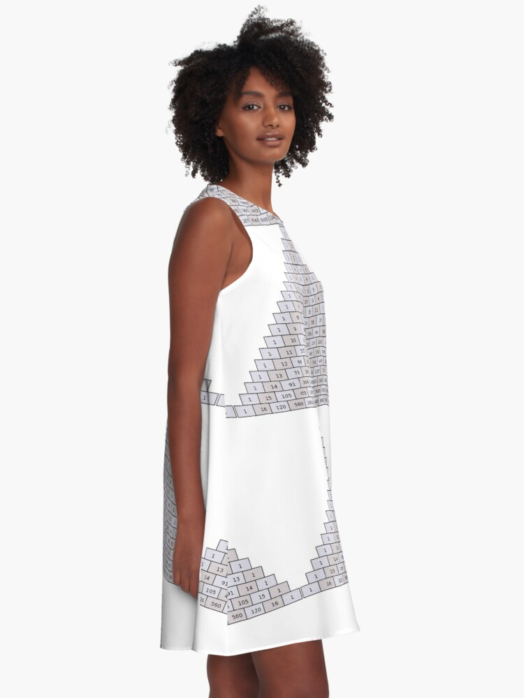 Alternate view of Pascal's Triangle #PascalsTriangle Number Pattern #NumberPattern A-Line Dress