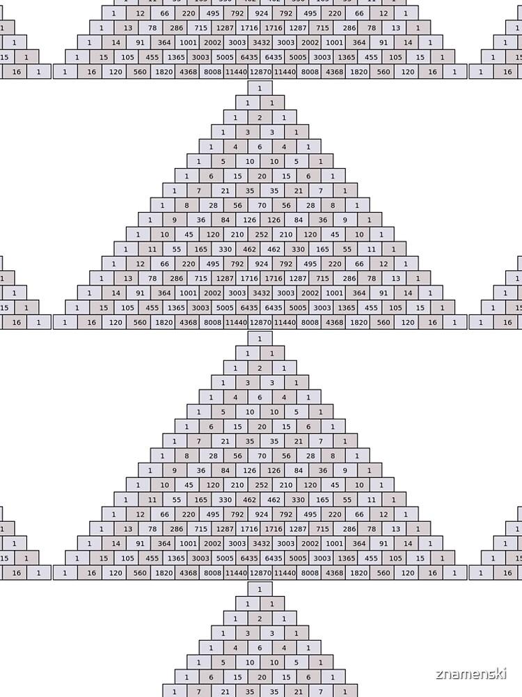 Pascal's Triangle #PascalsTriangle Number Pattern #NumberPattern by znamenski