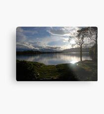 Sunset Over Lake of Menteith Metal Print