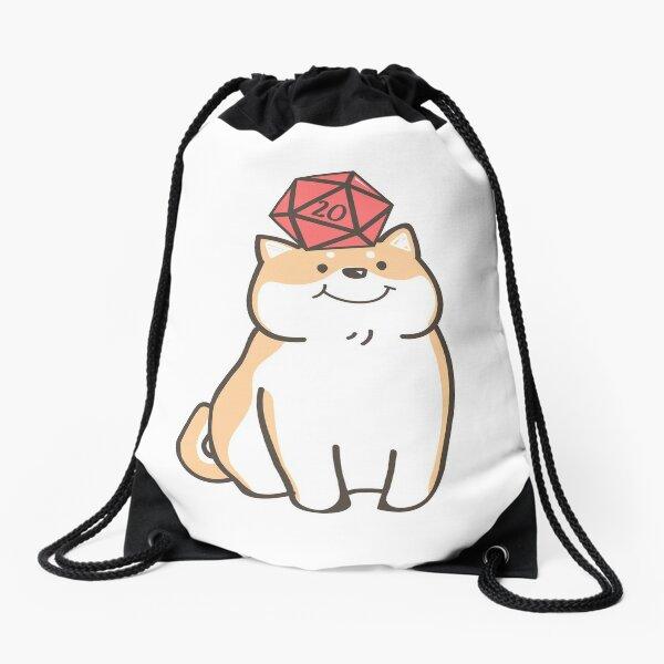 Kawaii Shiba Inu Dog for Dogs Lover Polyhedral D20 Dice Drawstring Bag