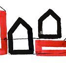 «Dos casas negras y dos rojas» de Istvan Ocztos