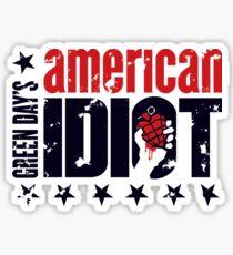 Amerikanischer Idiot Sticker