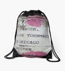 Urban poetry Drawstring Bag
