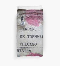 Urban poetry Duvet Cover