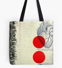 Bolsa de tela Corazón 01 - Collage Abstracto Moderno