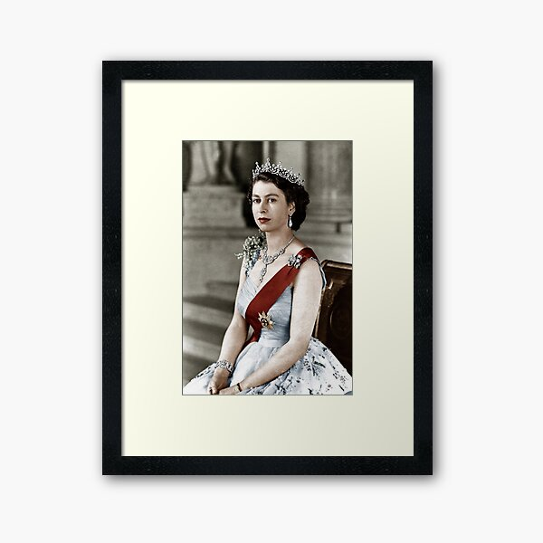 Queen Elizabeth Framed Art Print