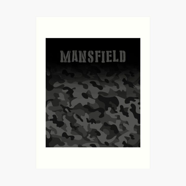 Mansfield England Army Military Camouflage soldier  Art Print