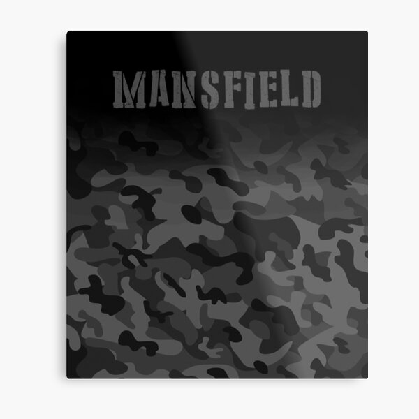 Mansfield England Army Military Camouflage soldier  Metal Print