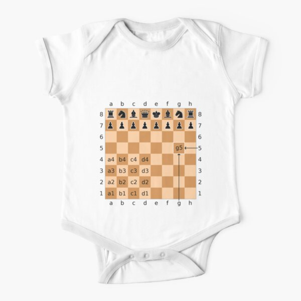 Algebraic notation (or AN) is a method for recording and describing the moves in a game of chess Short Sleeve Baby One-Piece