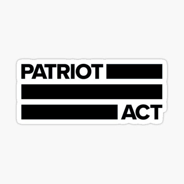 Patriot Act Sticker