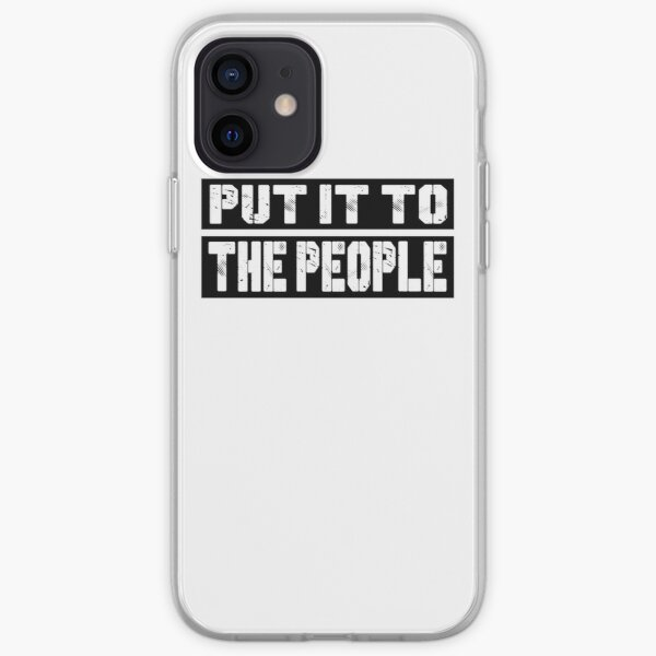 Put It to the People Anti Brexit. March To Demand Peoples Vote. iPhone Soft Case