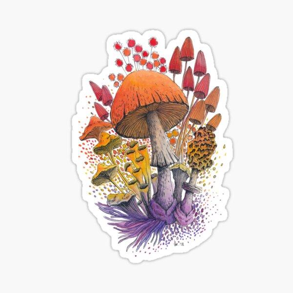 Mushroom Composition #1 | Watercolor Illustration Sticker