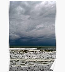 Stormy Surf Poster