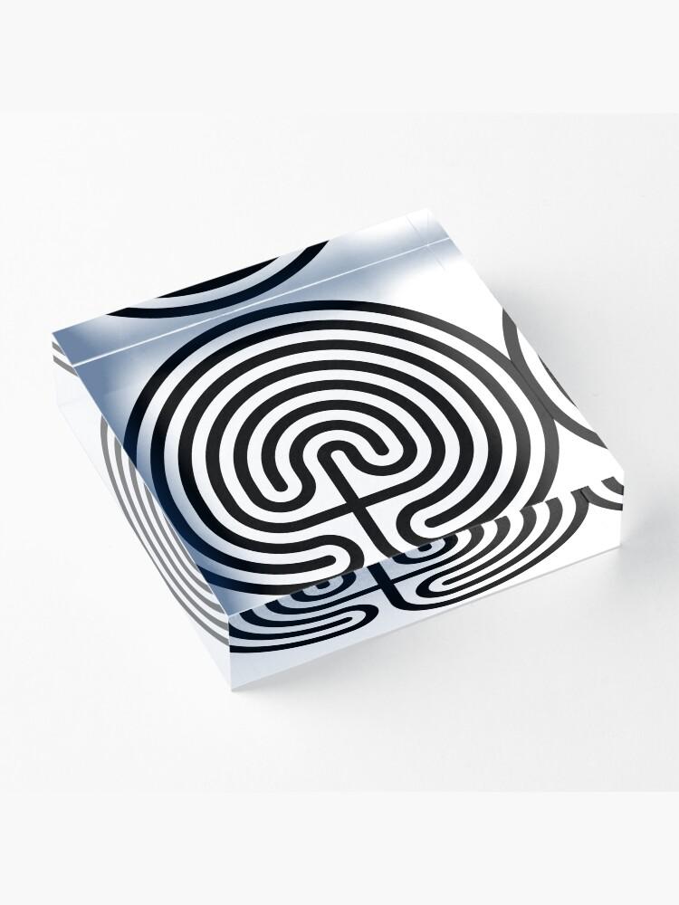 Alternate view of #Cretan, #labyrinth, Cretanlabyrinth Acrylic Block