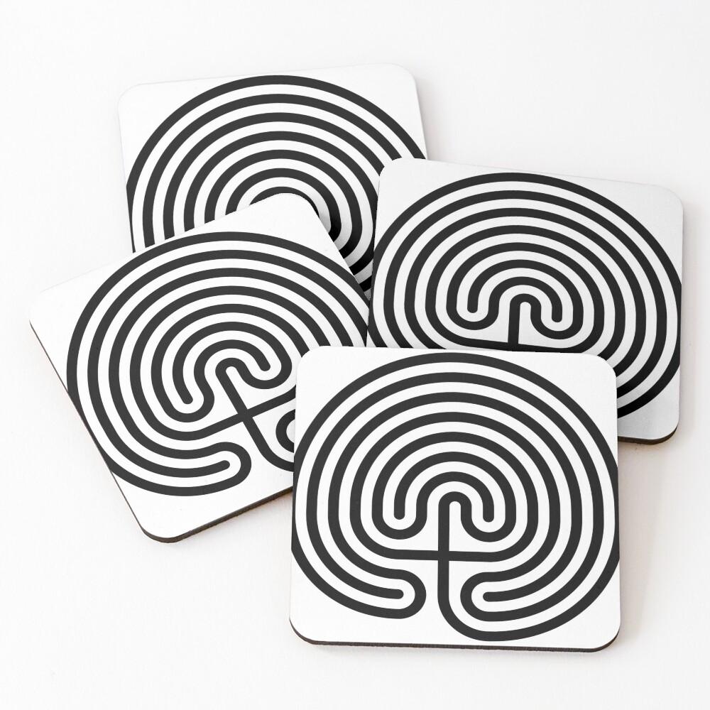 #Cretan, #labyrinth, Cretanlabyrinth Coasters (Set of 4)