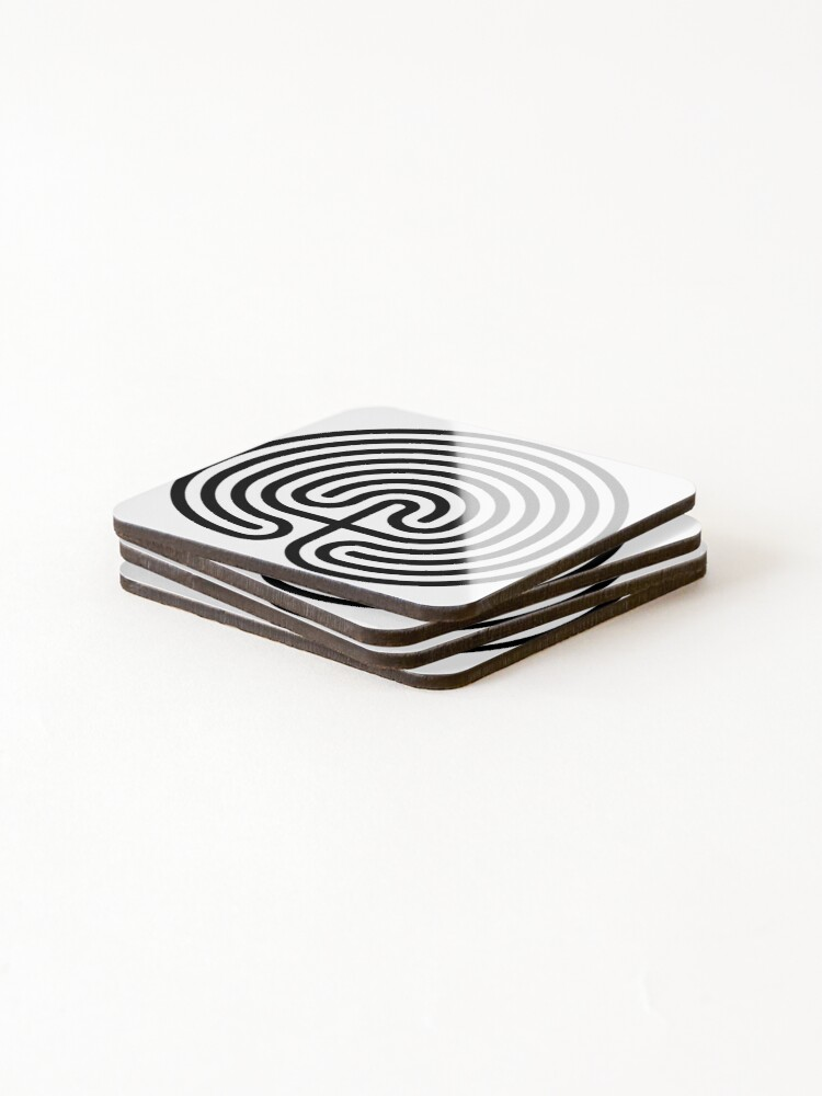 Alternate view of #Cretan, #labyrinth, Cretanlabyrinth Coasters (Set of 4)
