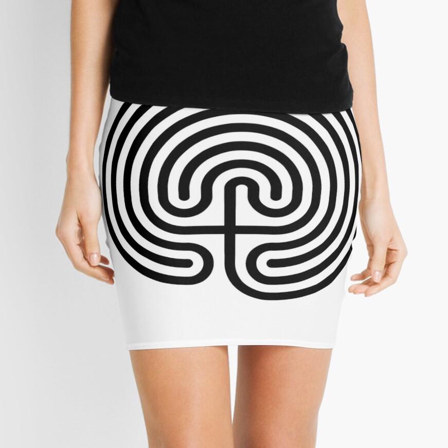 #Cretan, #labyrinth, Cretanlabyrinth Mini Skirt